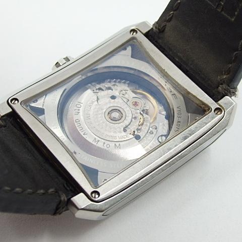 G16793 ミナセ MINASE VY03-K07S オートマ シースルーバック 純正ベルト劣化 腕時計【可動中】_画像10