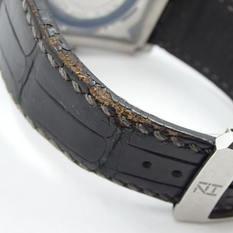 G16793 ミナセ MINASE VY03-K07S オートマ シースルーバック 純正ベルト劣化 腕時計【可動中】_画像9