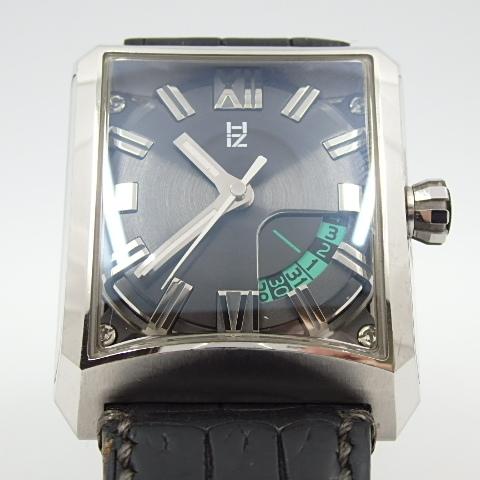 G16793 ミナセ MINASE VY03-K07S オートマ シースルーバック 純正ベルト劣化 腕時計【可動中】_画像4