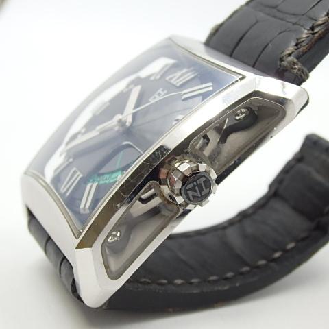 G16793 ミナセ MINASE VY03-K07S オートマ シースルーバック 純正ベルト劣化 腕時計【可動中】_画像6