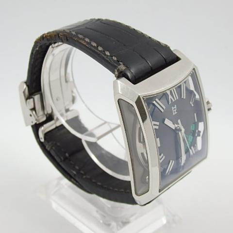 G16793 ミナセ MINASE VY03-K07S オートマ シースルーバック 純正ベルト劣化 腕時計【可動中】_画像2