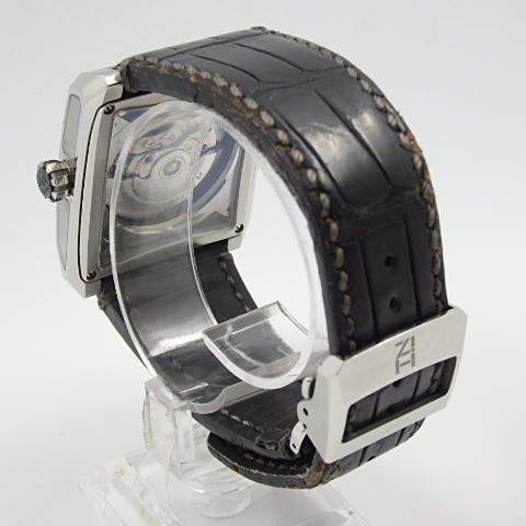 G16793 ミナセ MINASE VY03-K07S オートマ シースルーバック 純正ベルト劣化 腕時計【可動中】_画像3