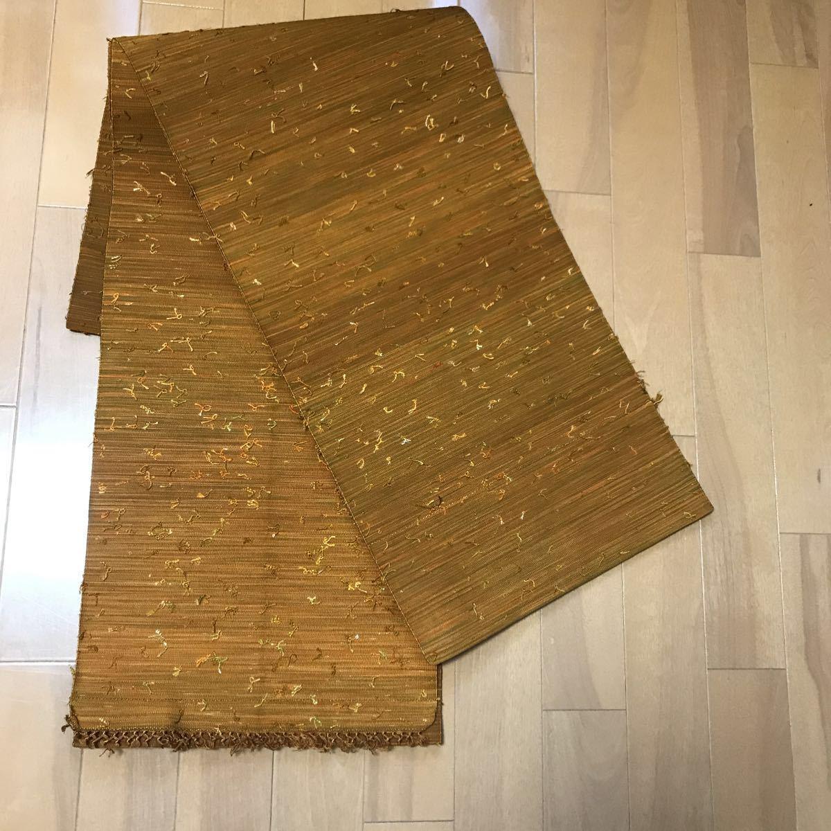 正絹つづれ織 結び糸 八寸名古屋帯_画像3
