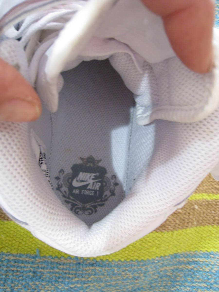 ナイキ ★エアフォース★白AF1 ミッド ホワイト スニーカー バッシュ 23.5センチ_画像10