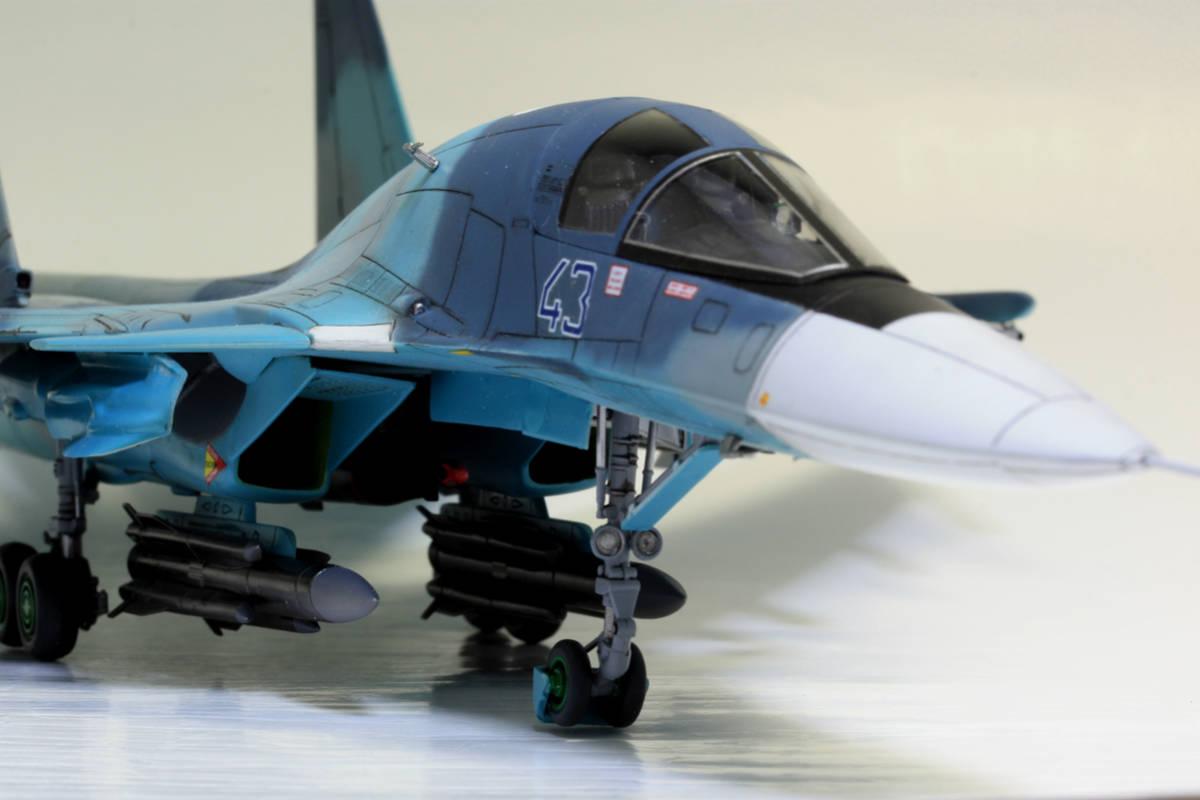 1/72 タミヤ(イタレリ) ウォーバードコレクション スホーイ SU-34 フルバック 塗装済み完成品_画像6