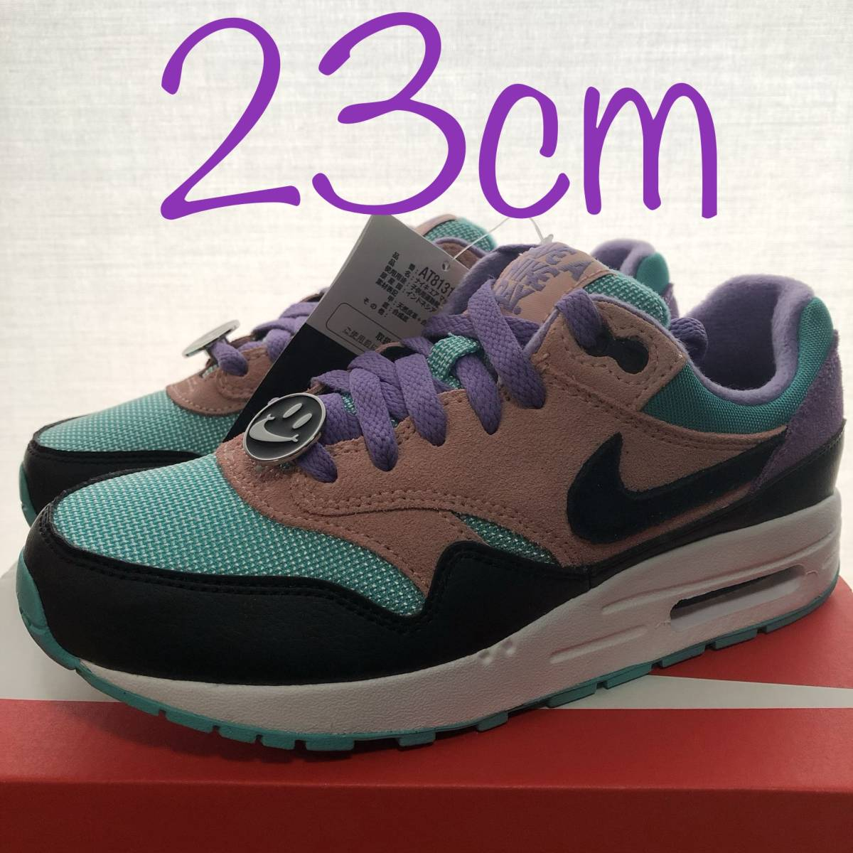 cozy fresh 81f44 30d7a 国内正規品 NIKE AIR MAX 1 NK GS HAVE A NIKE DAY ナイキ エアマックス ニコちゃん SMILE AT8131-001  23.0cm スマイル エアマックス1