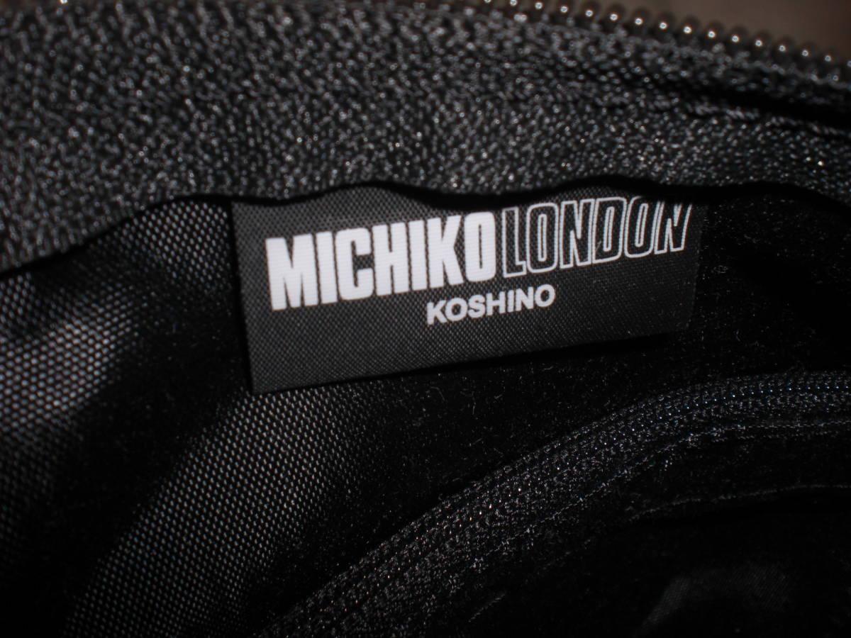 MICHIKO LONDONミチコロンドン・レディス 黒 手提げバッグ 未使用タグ付_画像7