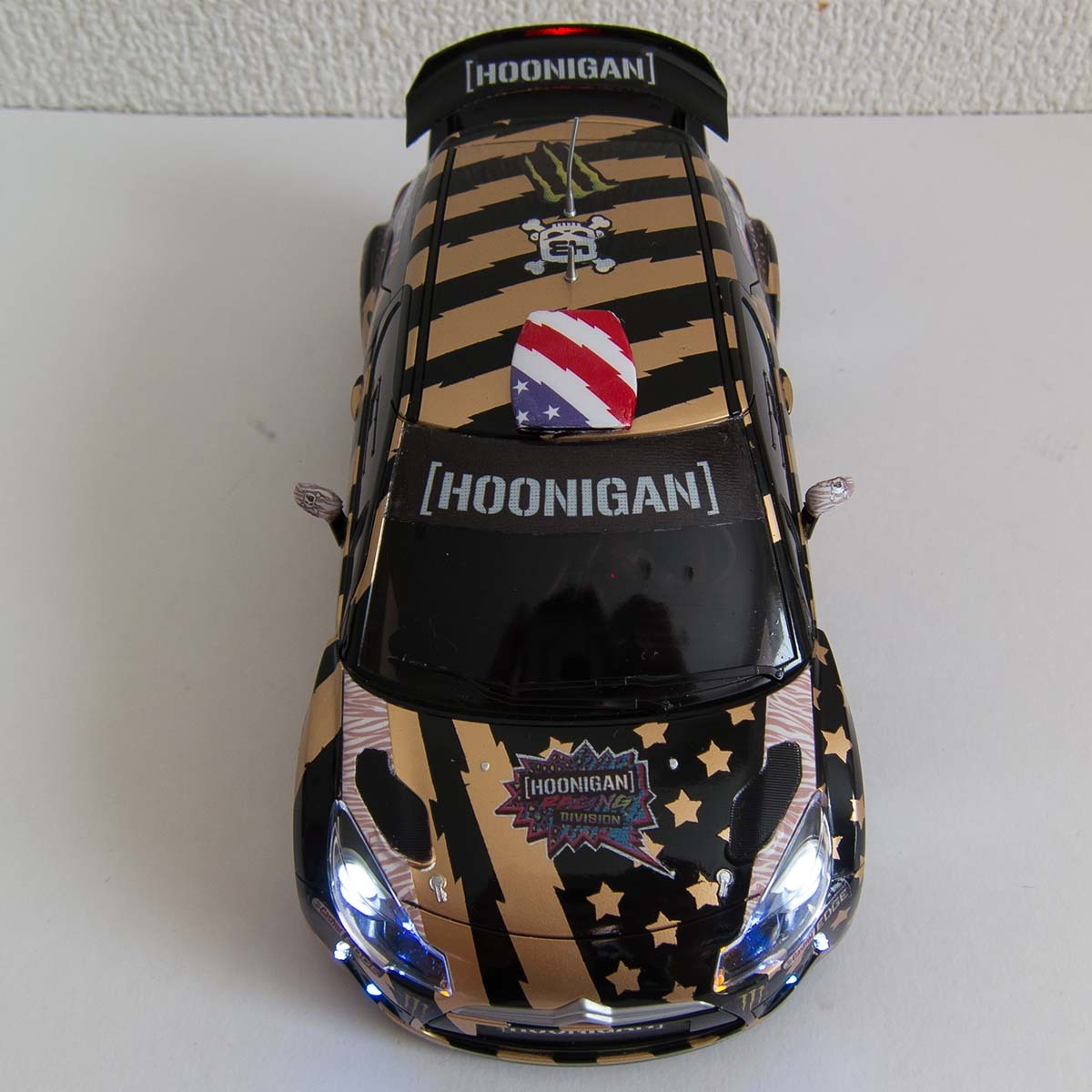 ミニッツ 自作電飾ボディ シトロエンDS3 WRC 2011 フル電飾・ジャイロ連動ウインカー / VEシャーシ専用_画像7