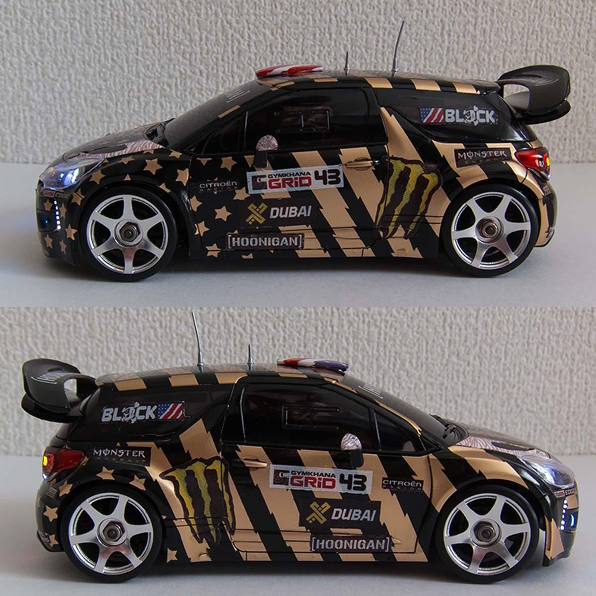 ミニッツ 自作電飾ボディ シトロエンDS3 WRC 2011 フル電飾・ジャイロ連動ウインカー / VEシャーシ専用_画像5