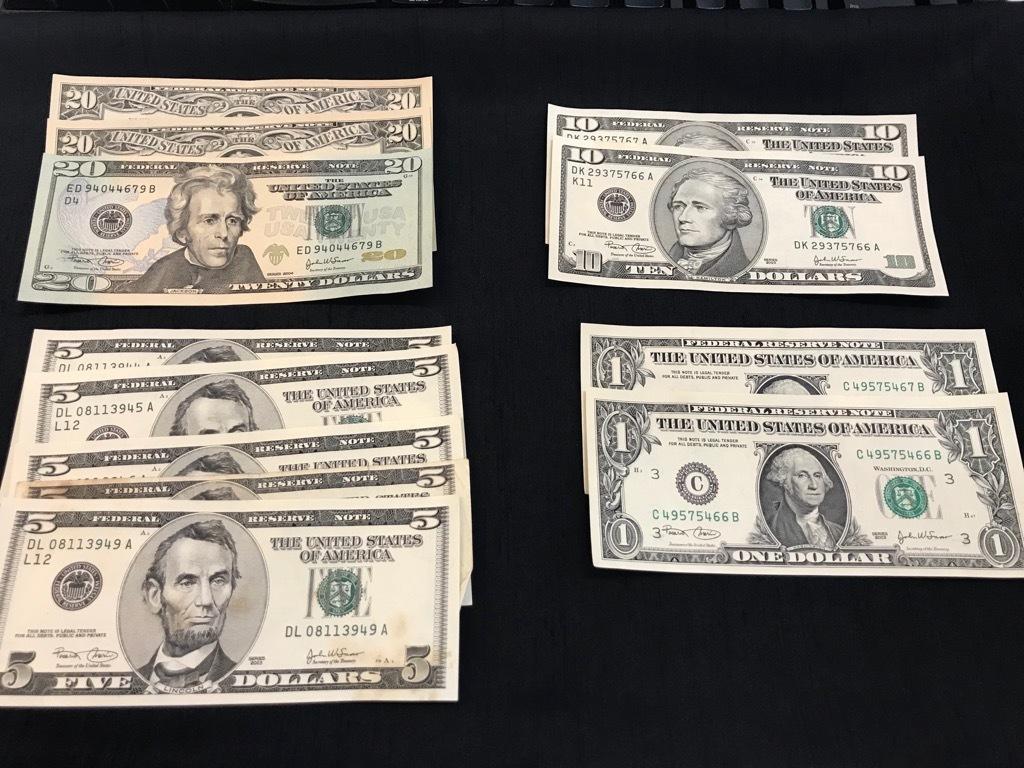 【247】 アメリカ ドル紙幣 107ドル分 外国紙幣