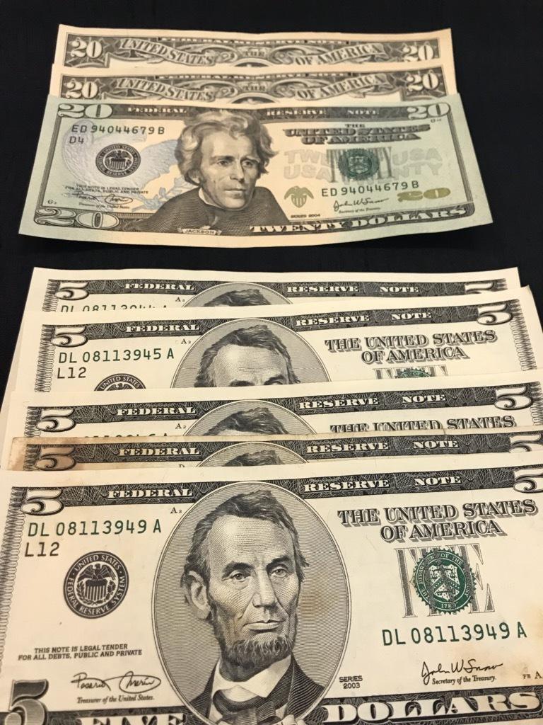 【247】 アメリカ ドル紙幣 107ドル分 外国紙幣_画像2