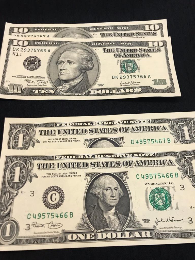 【247】 アメリカ ドル紙幣 107ドル分 外国紙幣_画像3