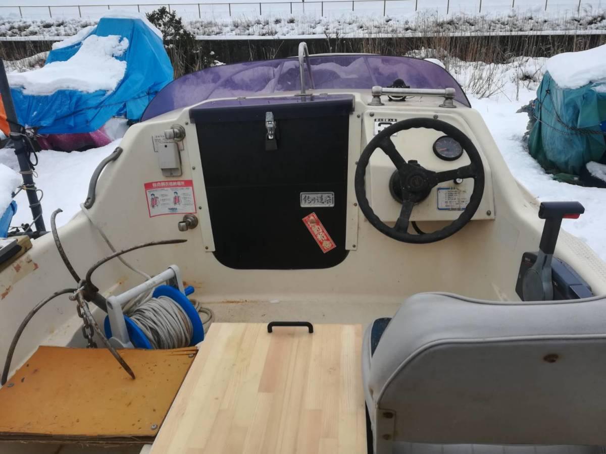 釣り船 ヤマハ15フィート艇、牽引可_画像2