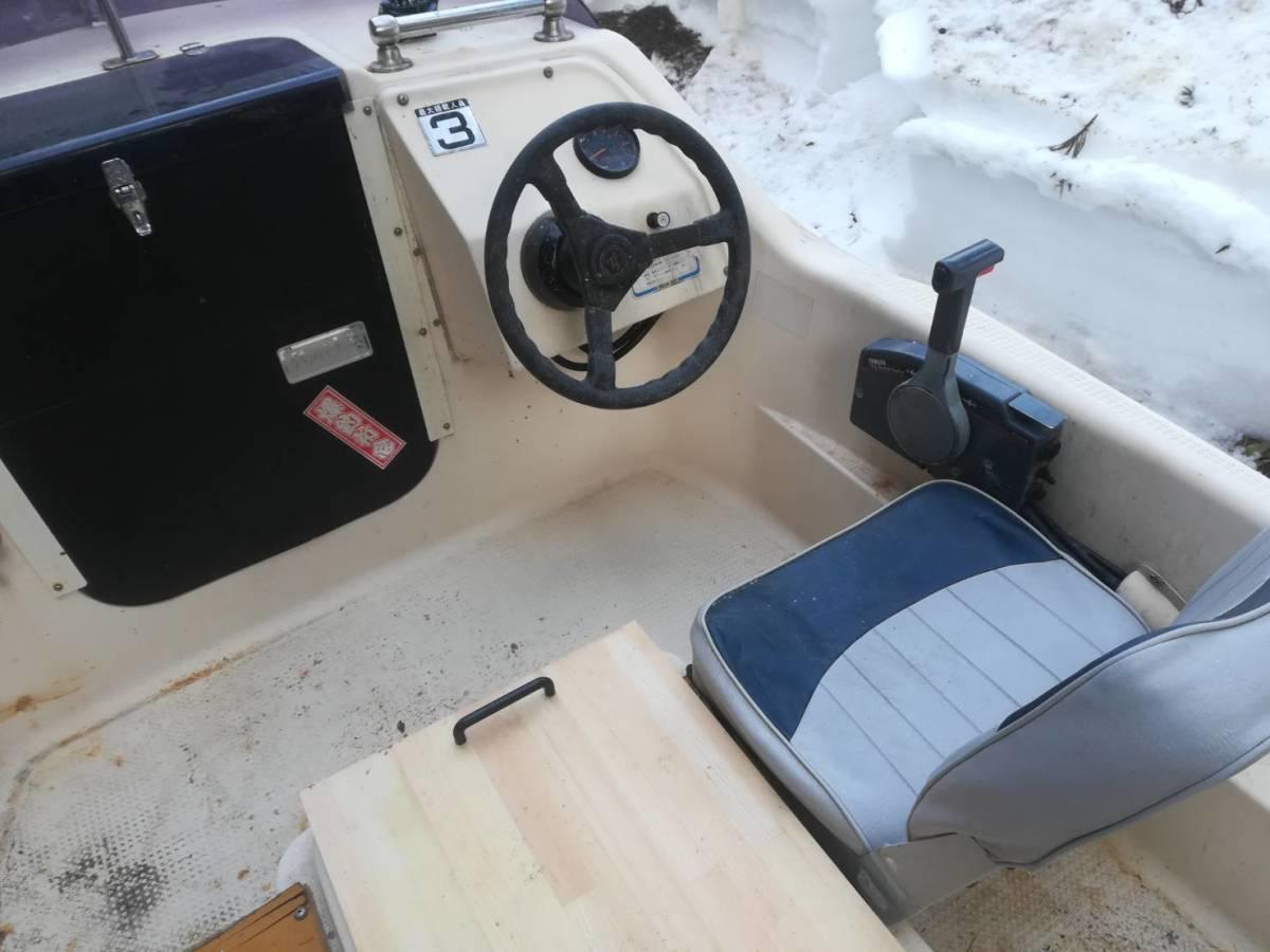 釣り船 ヤマハ15フィート艇、牽引可_画像3