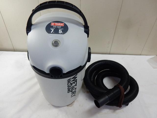 乾湿両用掃除機 E-Value EVC-100P 集塵容量7L 吸水容量5L 動作品