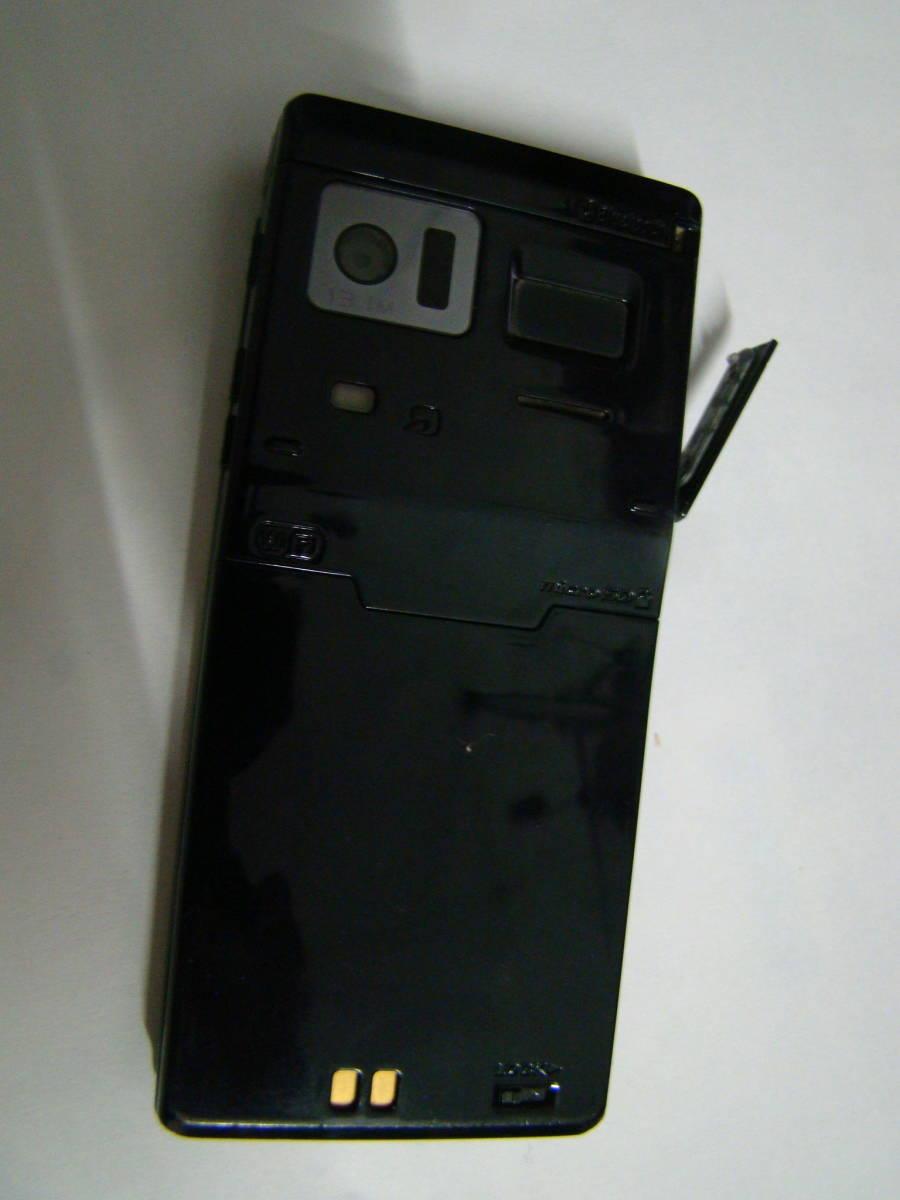 現状品  F-01E 携帯電話 docomo/富士通  ACアダプター付 ブラック イタミあり _画像6