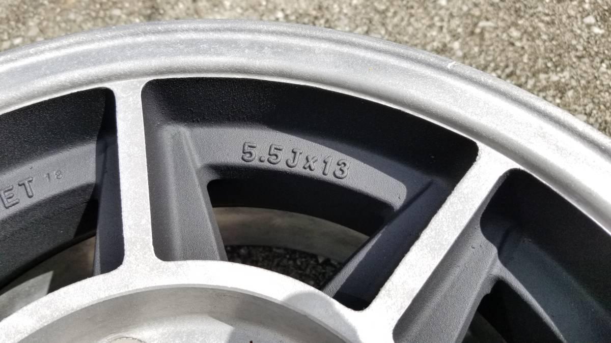 数少!!ハヤシレーシング ストリート ホイール ホンダ S800 S600 専用 当時物 5x130 13x5.5j オフセット 18 旧車 Hayashi Racing Street_画像7