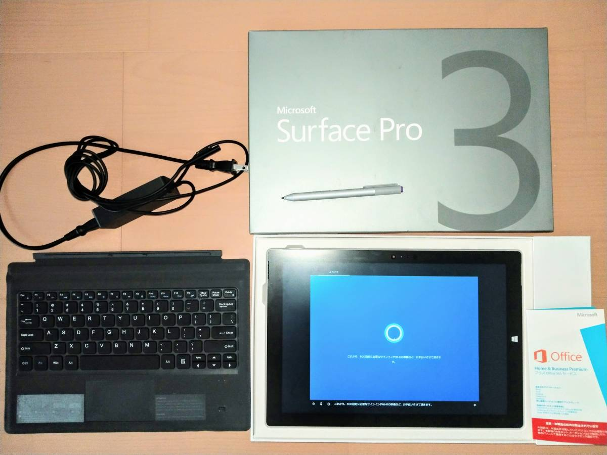◆送料無料◆動作確認済 Microsoft Surface Pro3/Win10/CPU i5-4300U/メモリ8GB/SSD256GB