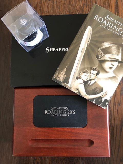 SHEAFFER シェーファー 万年筆 18K 限定品 ローリング20'リミテッドエディション 木製ボックス入り シリアルナンバー_画像2