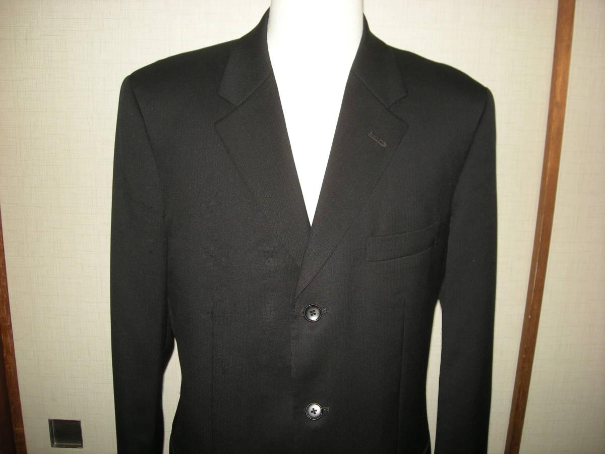 DX HIROKO KOSHINO ヒロコ コシノ 美品 黒 ブラック スーツ 3釦 サイドベンツ ツータック 98 Y8_画像3