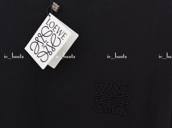 新品 ロエベ TシャツXS ブラック ロゴ刺繍_画像3