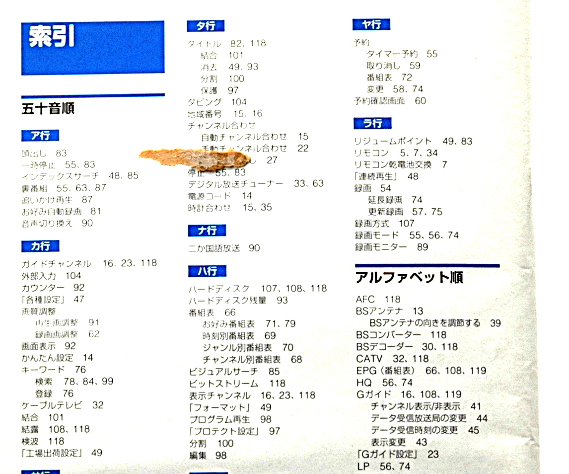 [Delivery Free]2001~ SONY SVR-515 Clip-On Hard Disk Video Recorder Instruction Manual ハードディスクレコーダー 取扱説明書[tag6666]_画像5