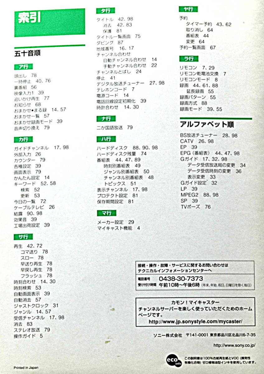 [Delivery Free]2002 SONY CSV-S55 Channel Server(Instruction Manual) ソニー チャンネルサーバー 取扱説明書[tag6666]_画像4