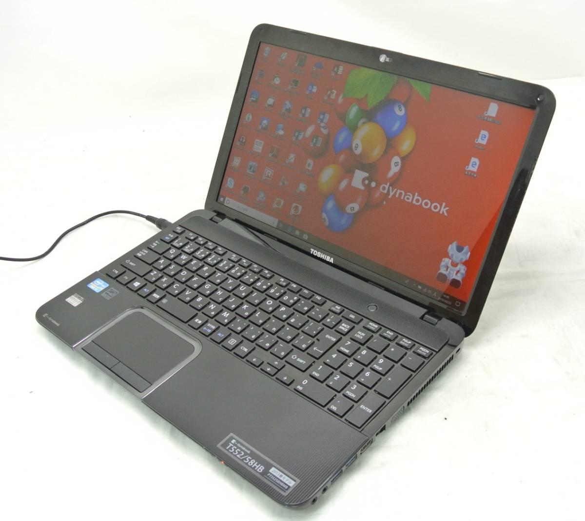 爆速SSD500G仕様 TOSHIBA T552/58HB 黒/i7-3630QM/8G/新SSD500G/ブルーレイRE/無線・USB3.0/Win10/office2016/ゲーム・映画・事務作業_画像4