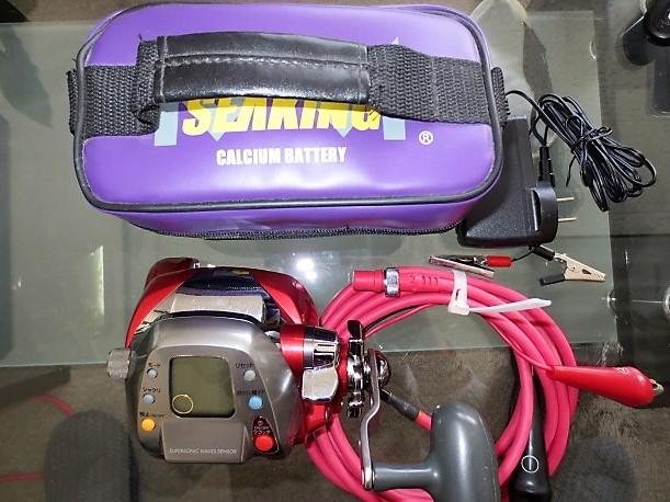 Daiwa(ダイワ)/SEABORG(シーボーグ)Z500FT ULTRAFRee(ウルトラフリー)+SEAKING CALCIUM BATTERY(バッテリー)/中古美品