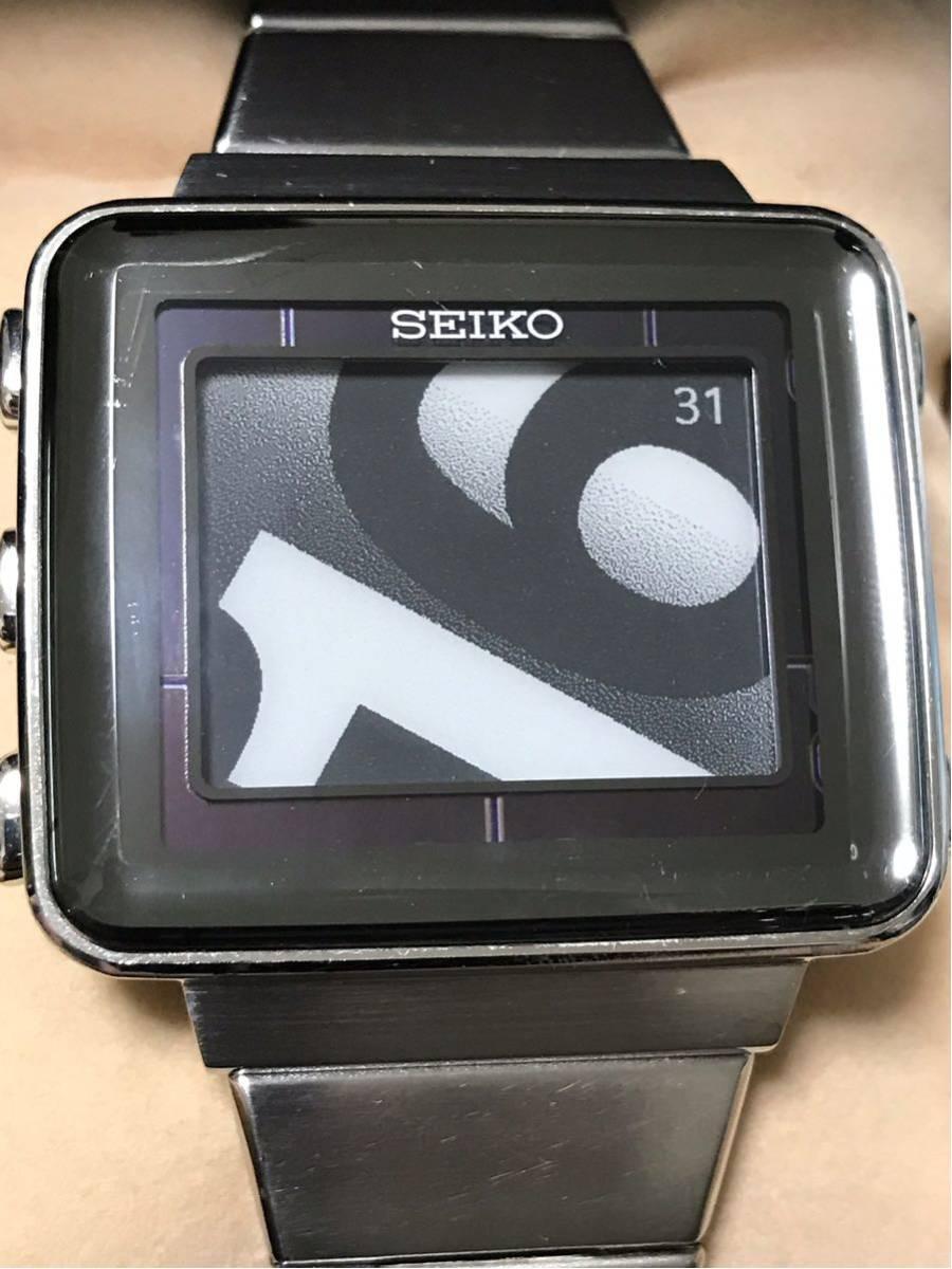 【美品/レア】SEIKO セイコー スピリット スマート アクティブマトリクスEPD 電子ペーパー SBPA003 S771-0AA0 動作OK 箱 保証書_画像4