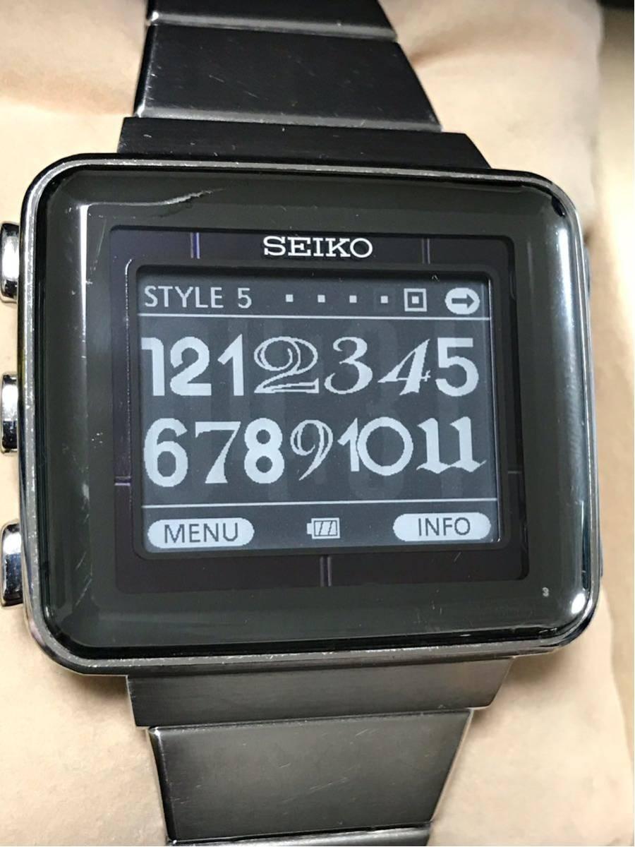【美品/レア】SEIKO セイコー スピリット スマート アクティブマトリクスEPD 電子ペーパー SBPA003 S771-0AA0 動作OK 箱 保証書_画像5