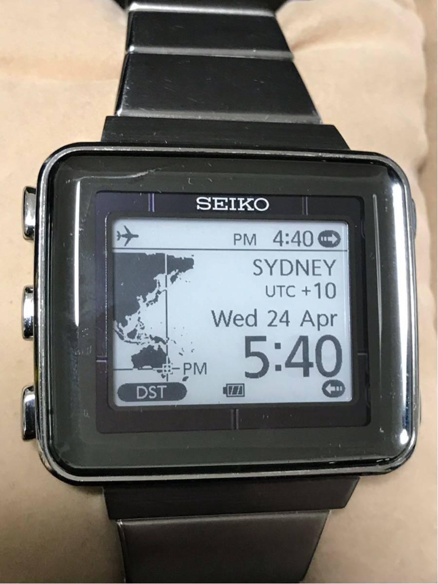 【美品/レア】SEIKO セイコー スピリット スマート アクティブマトリクスEPD 電子ペーパー SBPA003 S771-0AA0 動作OK 箱 保証書_画像7