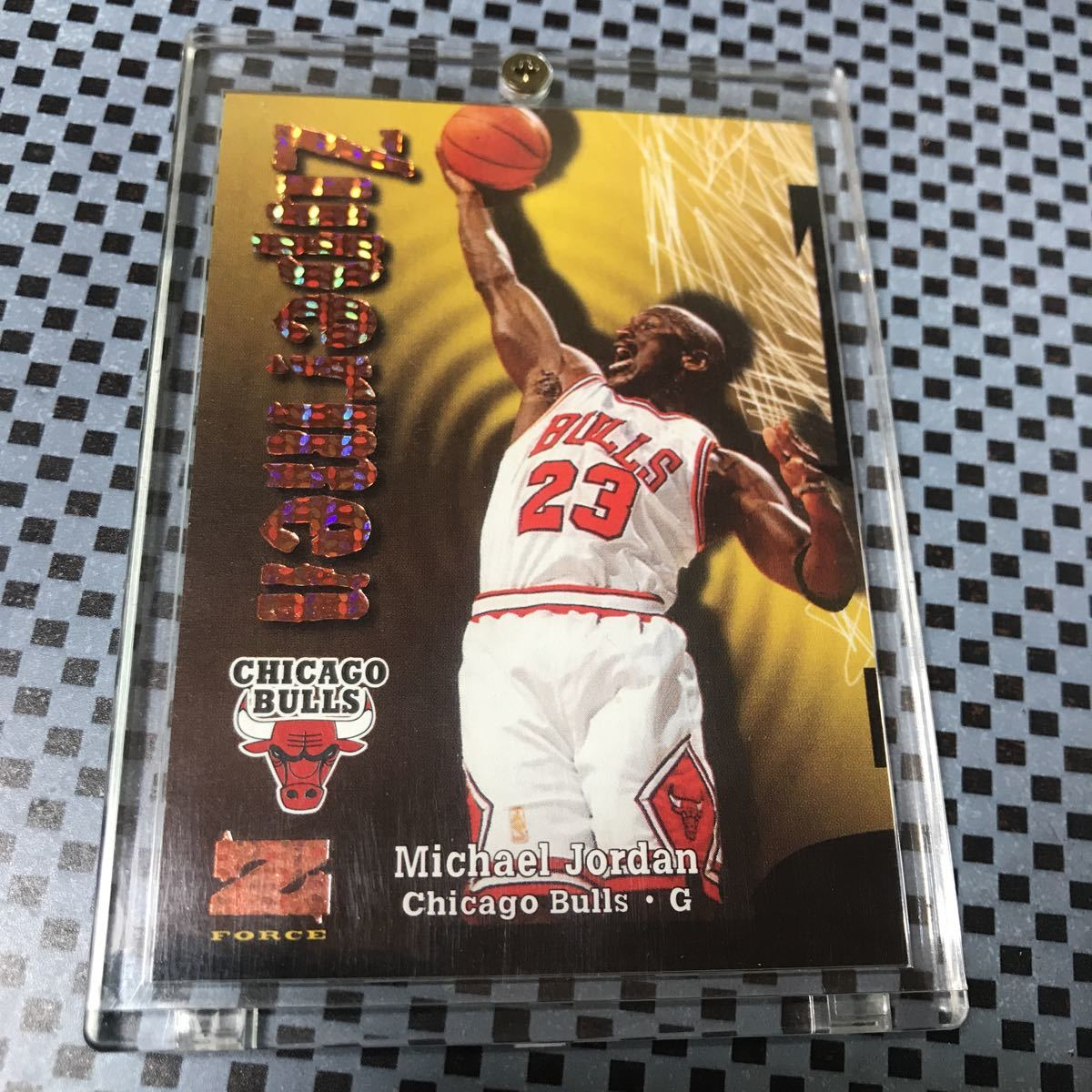 1997-98 Skybox Z-Force Super Rave Michael Jordan Zuperman /50 _画像2