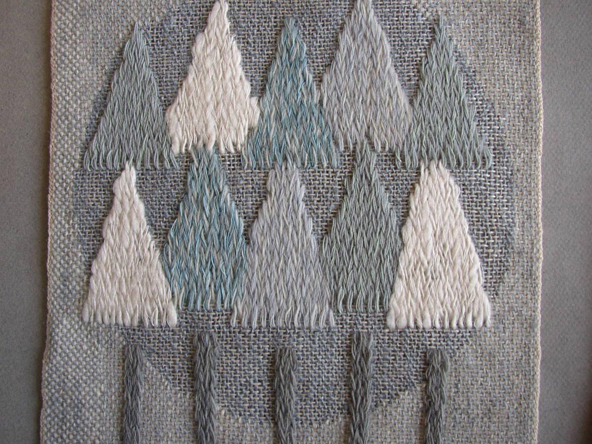 スウェーデン織  技法『スナイリー』秋木立と冬木立2点 北欧テキスタイル  伝統手工芸_画像3