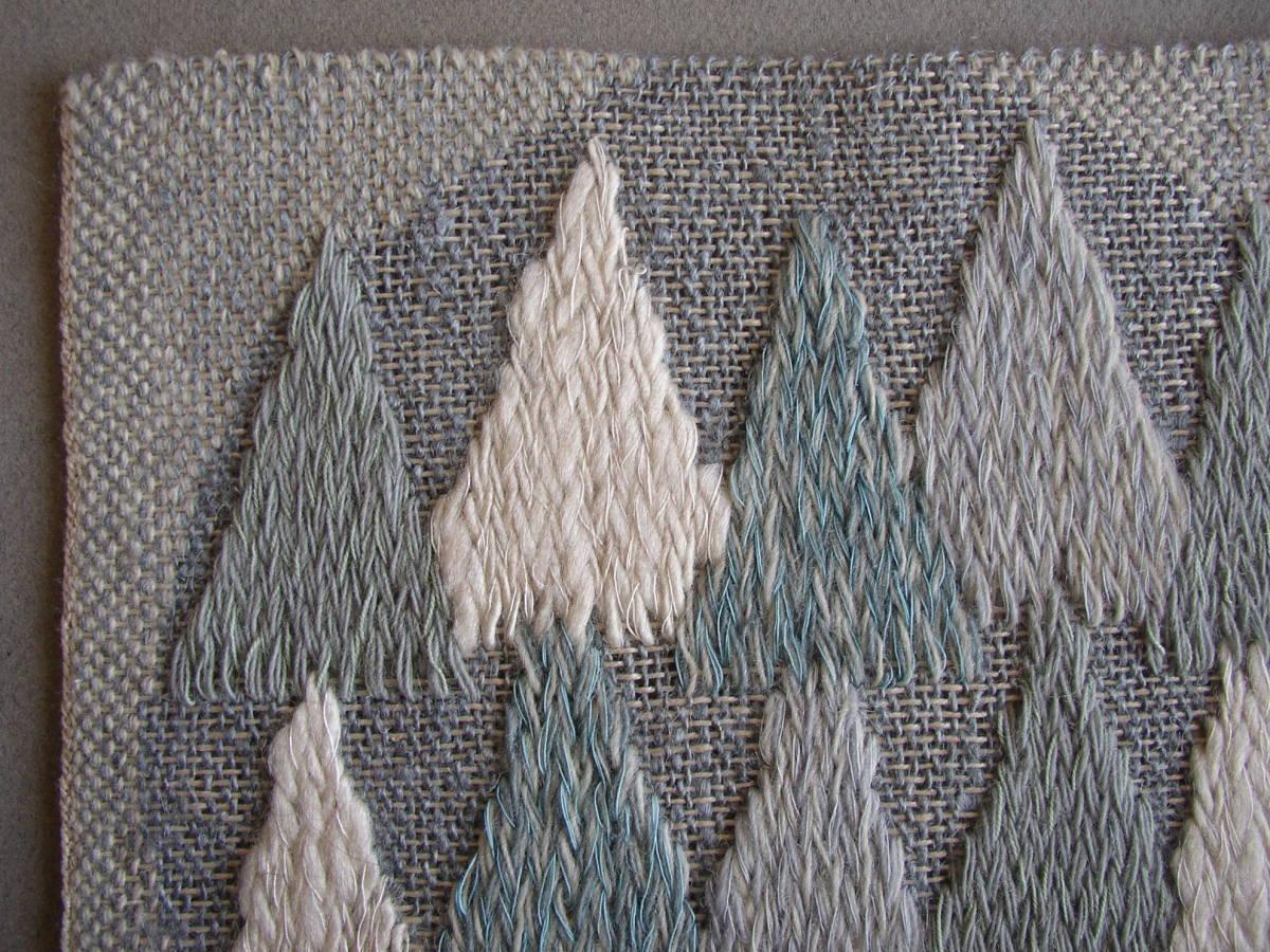 スウェーデン織  技法『スナイリー』秋木立と冬木立2点 北欧テキスタイル  伝統手工芸_画像6