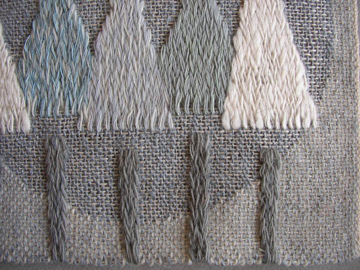 スウェーデン織  技法『スナイリー』秋木立と冬木立2点 北欧テキスタイル  伝統手工芸_画像7