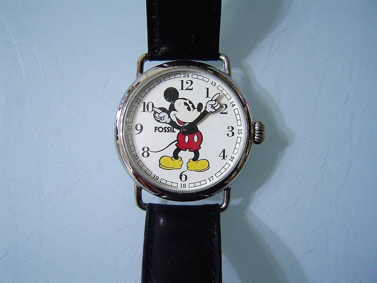 誰かが入れたら終わり!1997年限定フォッシル操りミッキーマウス!未使用品!飾ってもかわいい!金色じゃないのがいい!
