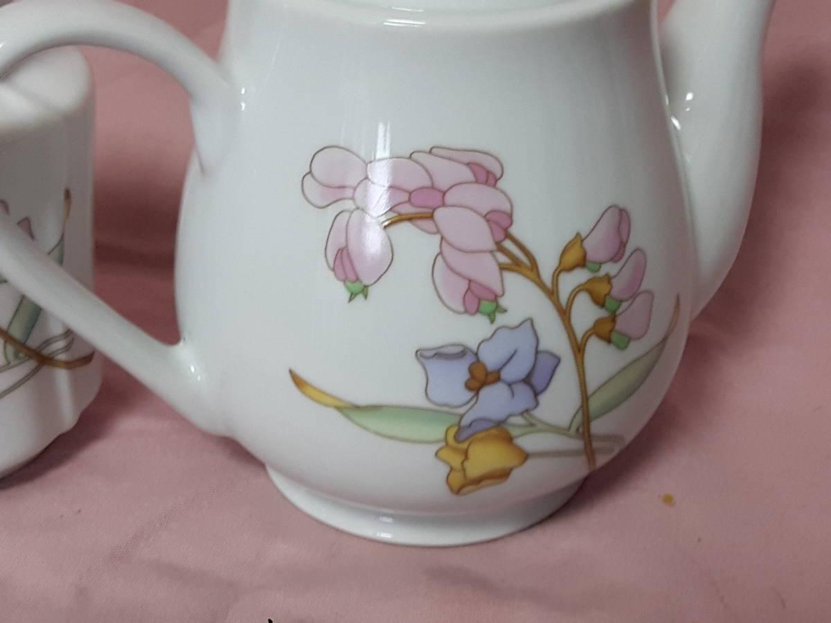 スコットランド製  ポット、紅茶入れ 花柄 陶器 小さい _画像5