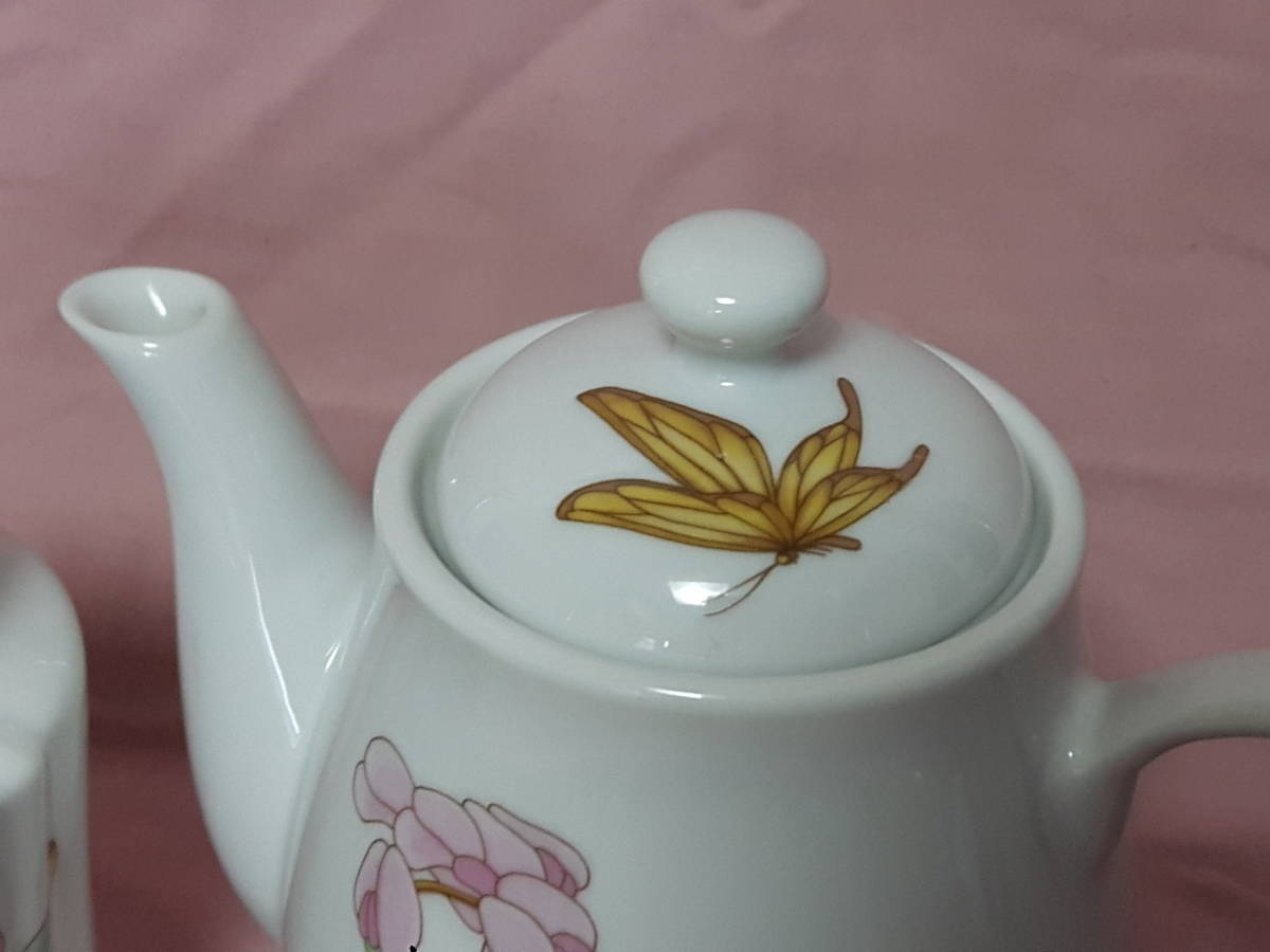 スコットランド製  ポット、紅茶入れ 花柄 陶器 小さい _画像6