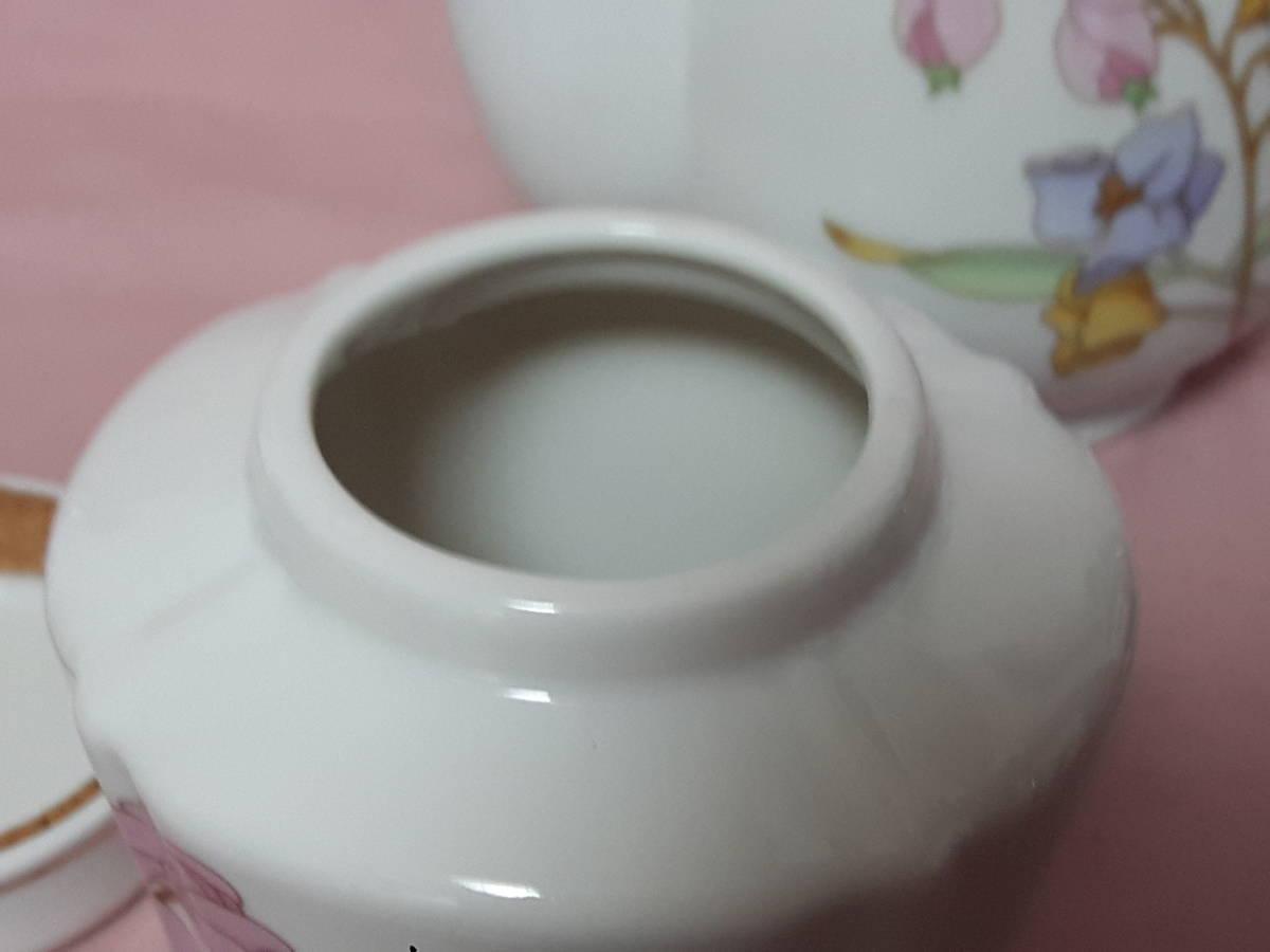 スコットランド製  ポット、紅茶入れ 花柄 陶器 小さい _画像8