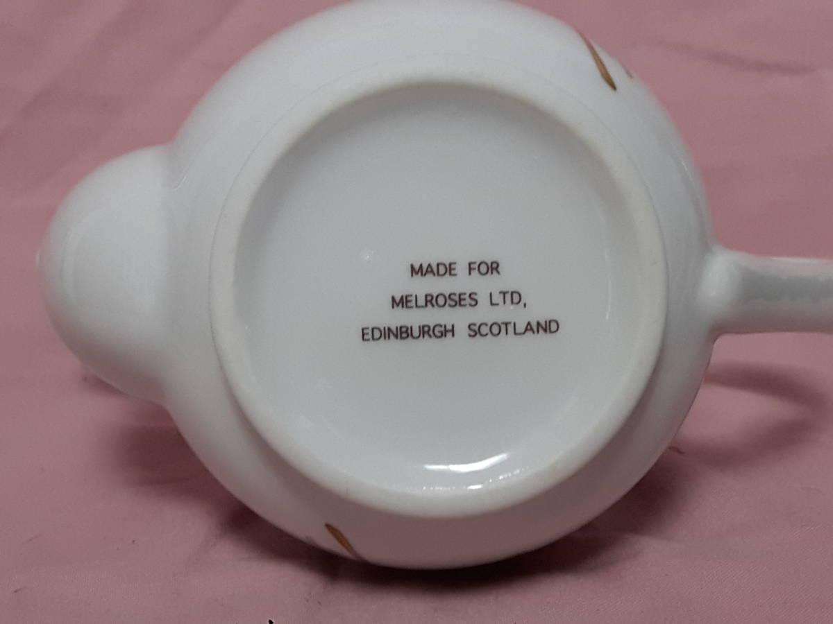 スコットランド製  ポット、紅茶入れ 花柄 陶器 小さい _画像10