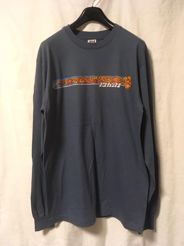 90s PHISH ビンテージ バンド Tシャツ バンT フィッシュ 長袖 ロンT USA製 anvil シングルステッチ レア ロック パンク_画像3