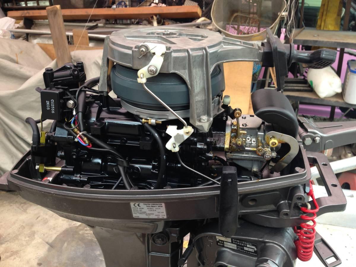 トーハツ 2スト 18馬力 L足 マーキュリー シープロ18馬力 OEM同品 使用少 愛知より_画像1