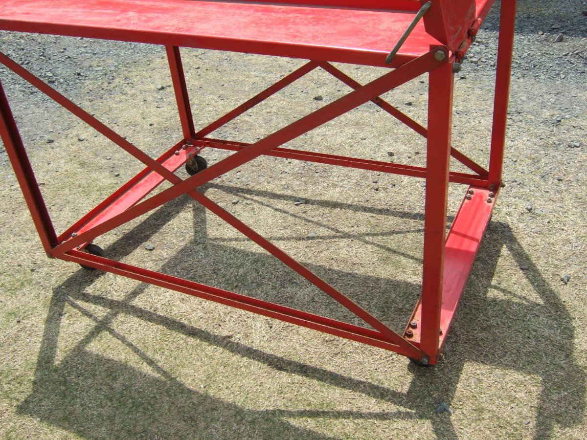 SATU41 農機具の運搬台車 動噴など トラック積込みに 保管台車 移動台車 中古 引取で_画像7