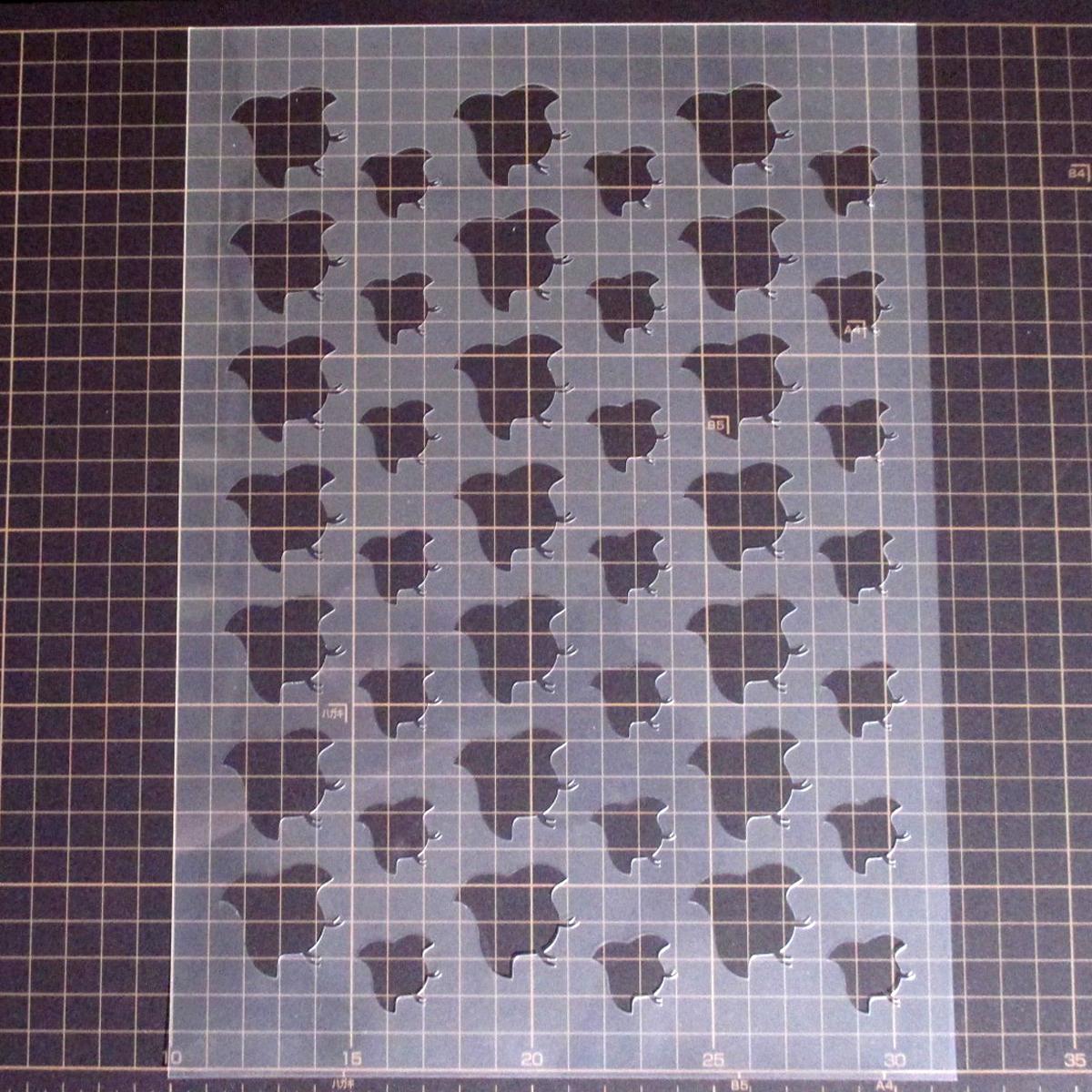 千鳥柄 和風地紋①番 ステンシルシート 型紙図案 NO231_画像4