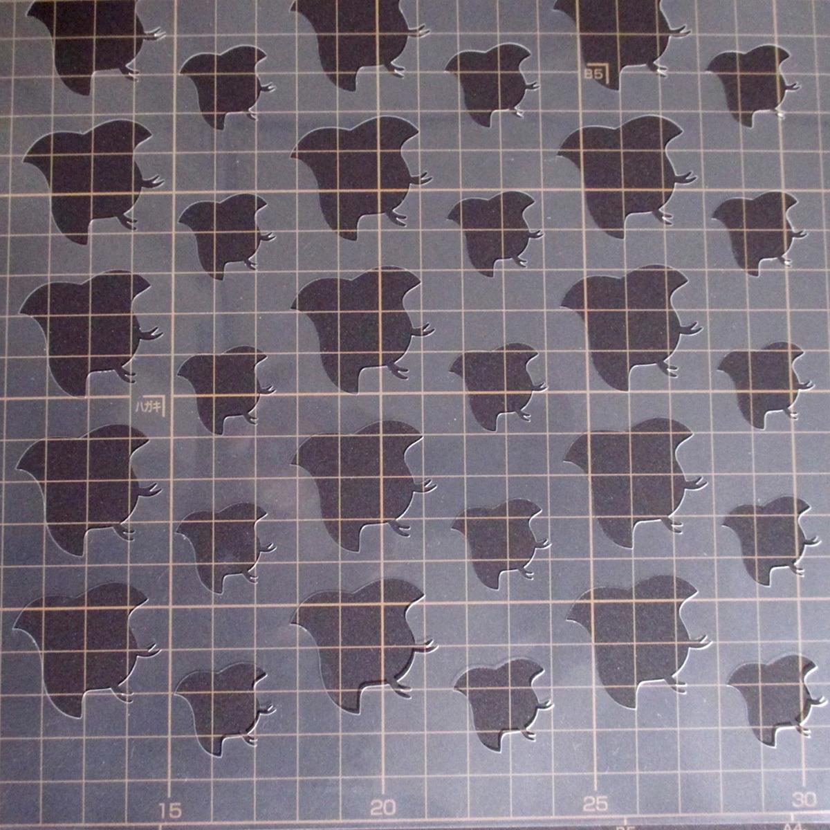千鳥柄 和風地紋①番 ステンシルシート 型紙図案 NO231_画像5