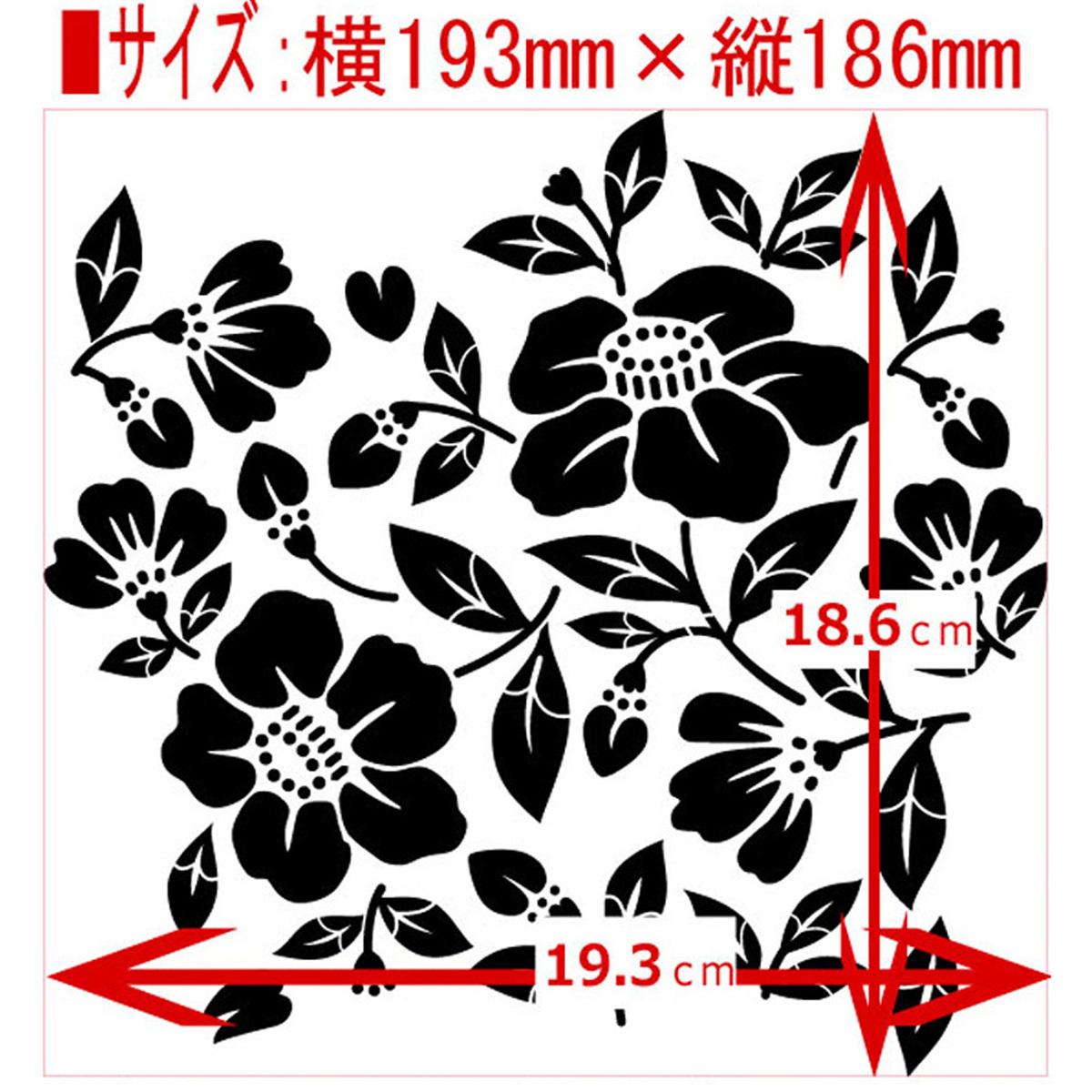 椿 Flowerset⑦番  ステンシルシート 型紙図案 NO537_画像2
