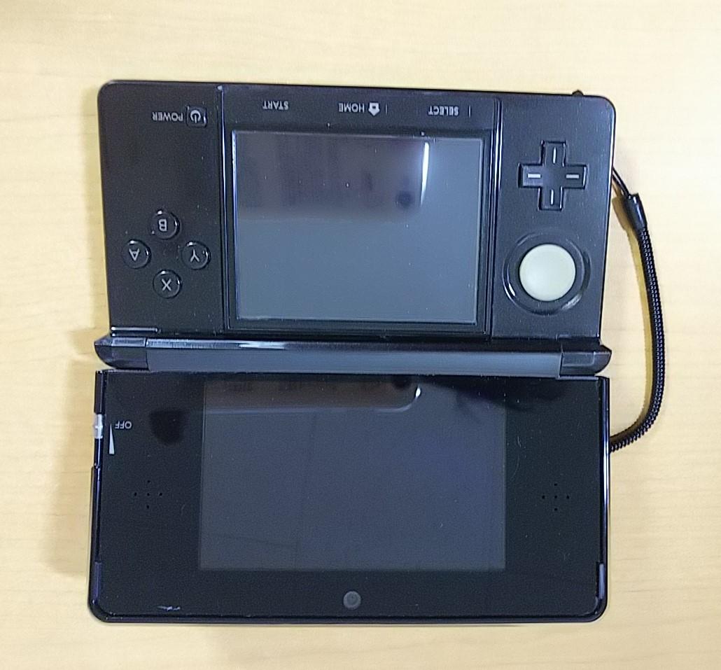 任天堂 3DS ブラック 本体 充電器 タッチペン SDカード付  NINTENDO 3DS_画像4