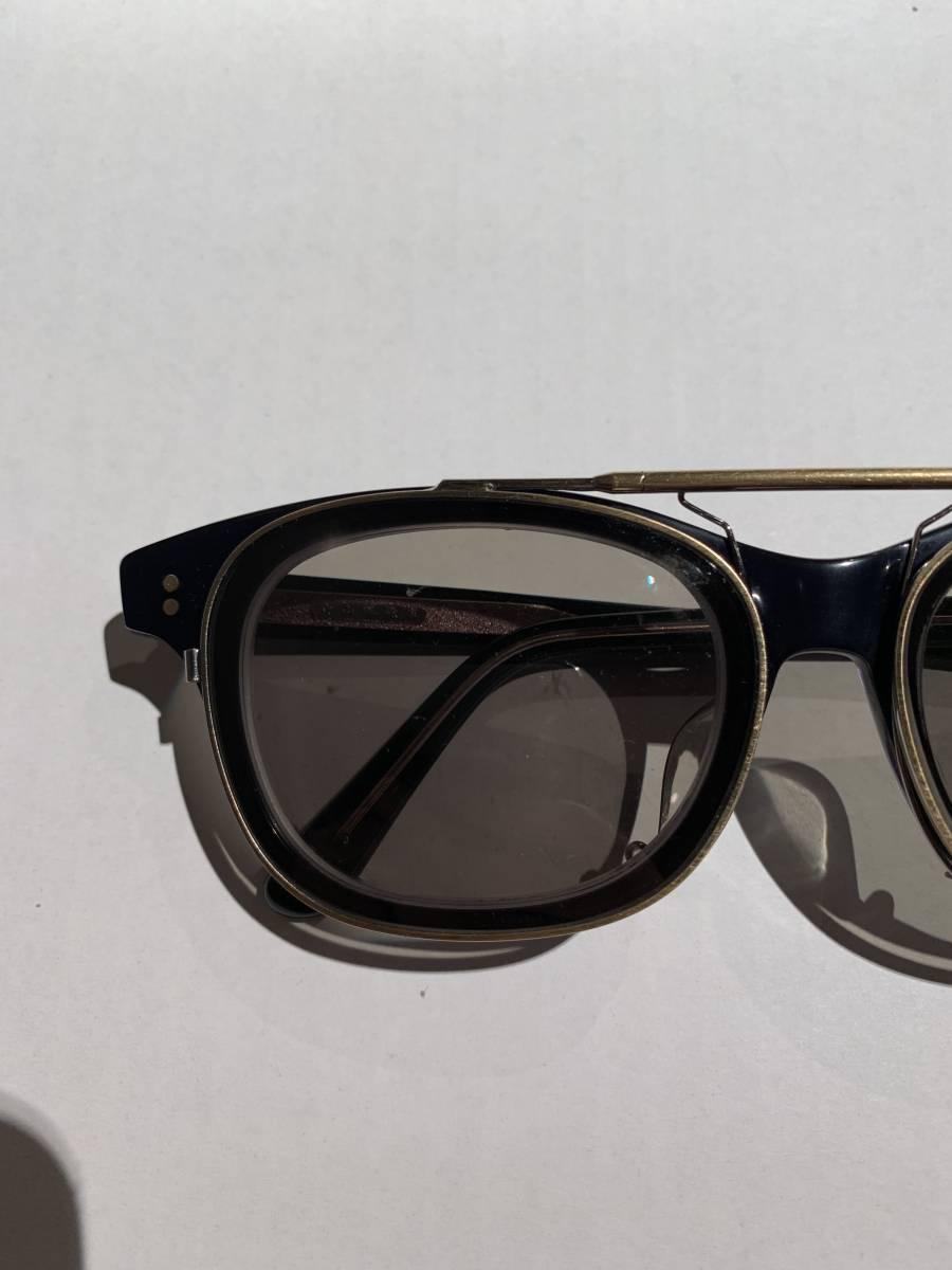 白山眼鏡 クリップオン 付き 2WAYメガネ アイウェア サングラス 眼鏡 _画像2