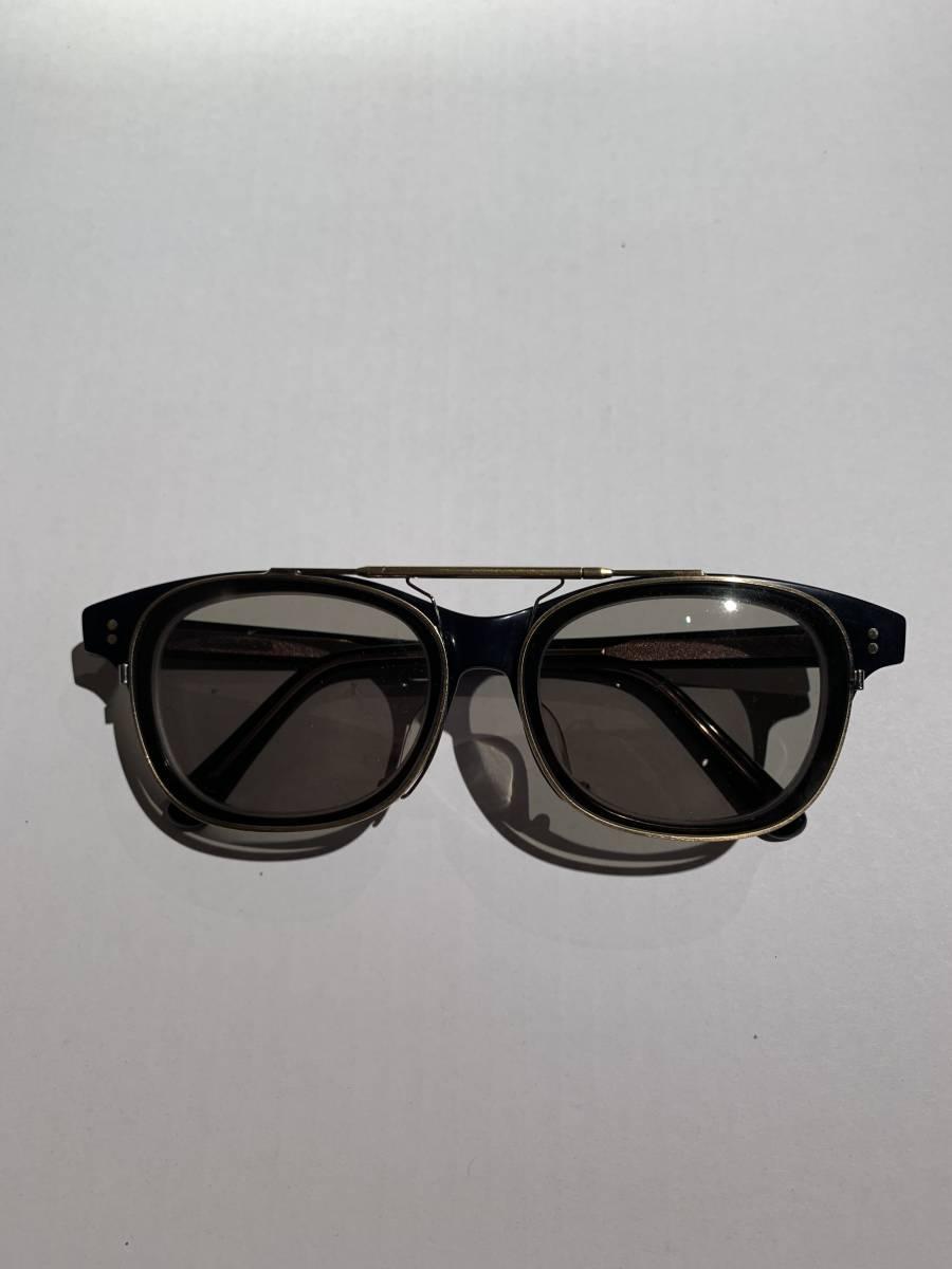 白山眼鏡 クリップオン 付き 2WAYメガネ アイウェア サングラス 眼鏡